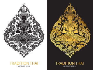 cover tradition thai Buddha Jewelry Set