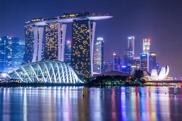 Marina Bay View of Singapore city landmark