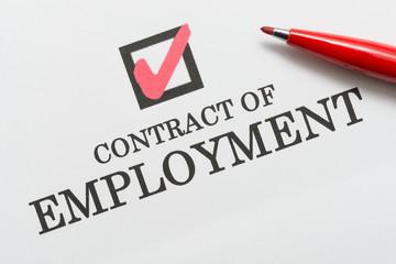 CONTRACT OF EMPLOYMENT 雇用契約 労働契約
