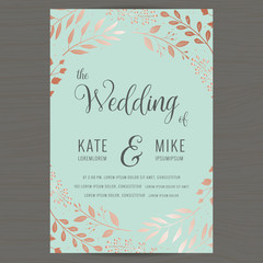 Search photos by patposeh save the date wedding invitation card template with copper color flower floral background vector stopboris Image collections