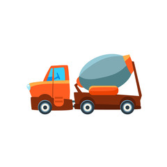 Concrete Mixer Toy Cute Car Icon
