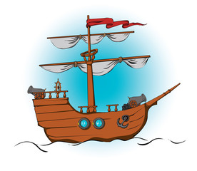 Ship with cannons