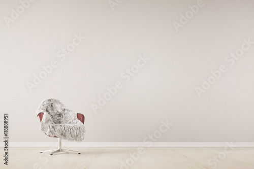 sessel mit fell vor wand stockfoto 39 s en rechtenvrije afbeeldingen op pic 118888951. Black Bedroom Furniture Sets. Home Design Ideas