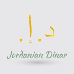 Golden  Symbol of  Jordanian Dinar