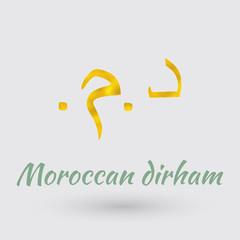 Golden  Symbol of the Moroccan dirham
