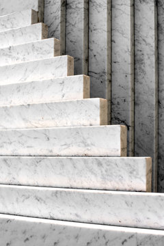 White marble monument architectural detail