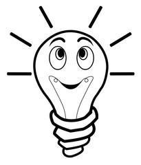 light bulb positive idea vector illustration