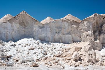 Mounds of salt or saline