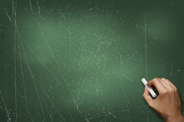 School green board, vector illustration.