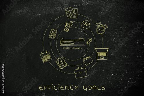 Energy Progress Bar Office Objects Efficiency Concept Stock