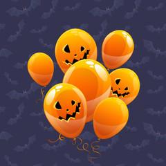 Halloween vector balloons