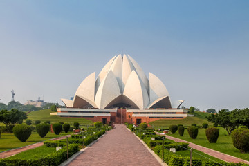 Garden Poster Lotus flower Bahai Lotus Temple - New Delhi, India
