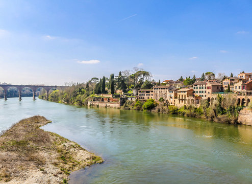 Beautiful view over Tarn River, Albi, France.