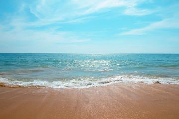 Beach sea blue summer sunny - Concept leisure relax