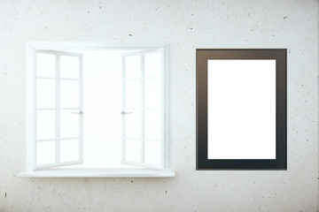 Blank window and picture frame