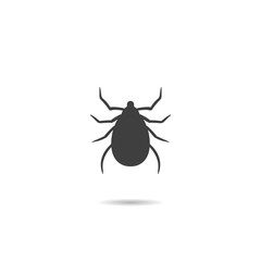 Icon, Silhouette of a Mite .