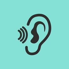 Ear vector icon.