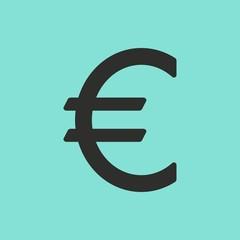 Euro vector icon.