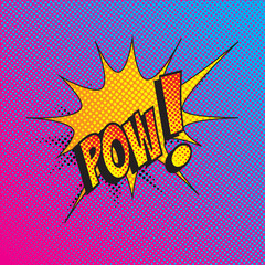 Colourful comic book style explosion vector effect