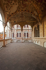 The loggia of the palace della Ragione,  the ancient seat of the courts citizens of Padua