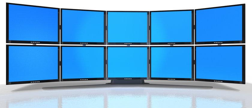 3d Monitor - Wand, freigestellt