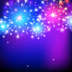 Vector holiday firework, colorful illustration for cards and posters
