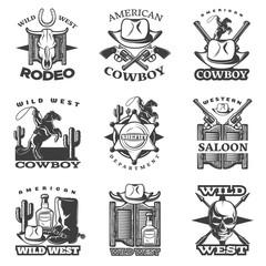Wild West Emblem Set