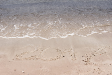 Inscriptions in the sand in 2017