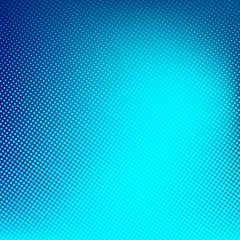 Blue cyan vector halftone background. Creative illustration.