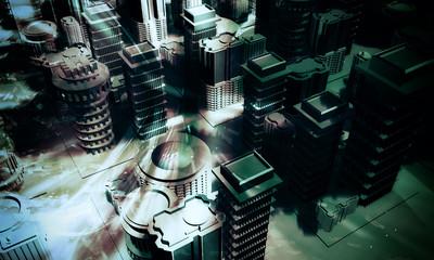 City. 3d rendering