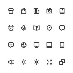 Basic Bold Line Icons vol.3