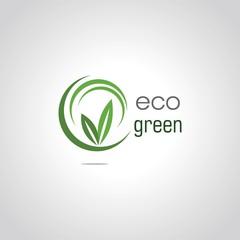 round eco green logo