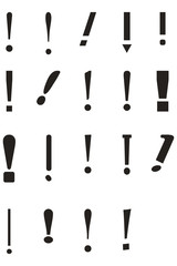Exclamation Point Icon Set