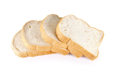 bread and grain white background.