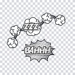 explossion pop art comic cartoon icon. No background. Vector illustration