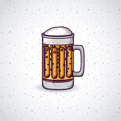 glass beer drink beverage traditional icon. Colorful and Flat design. Vector illustration