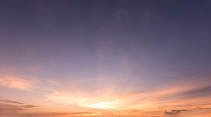 panorama sunset sky background