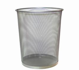 Bin sieve mesh blank isolated on white background
