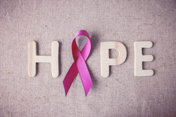 Pink Ribbons toning background, Breast cancer awareness