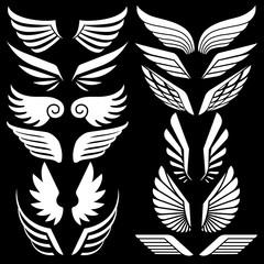 Wings set. Vector illustration