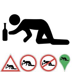 Icon a drunk man