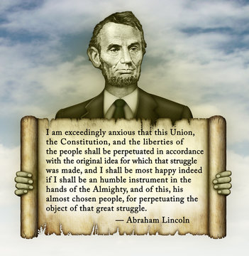 Abraham Lincoln Quote on the Constitution and Liberty