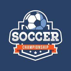 Sport Soccer Logo. American style.
