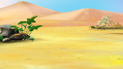 Lonely Plant in a Desert
