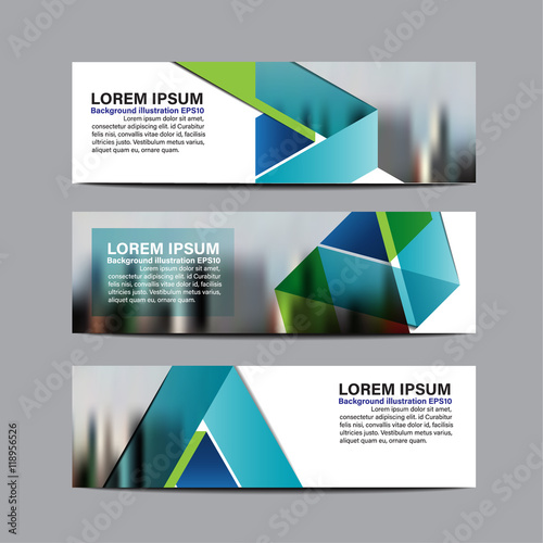 Collection business banner set vector design background template ...