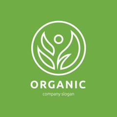 Organic logo,food logo,vector logo template