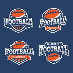 Set of Sport American Football Logo. American style.