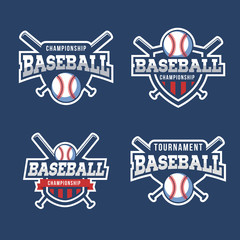Set of Sport Baseball Logo. American style.