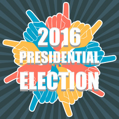 Election of the president of America 2016. Invitation to elections USA. Ready vector design. Honesty and the free choice of each. Vector EPS 10.