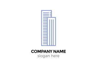 company building vector logo